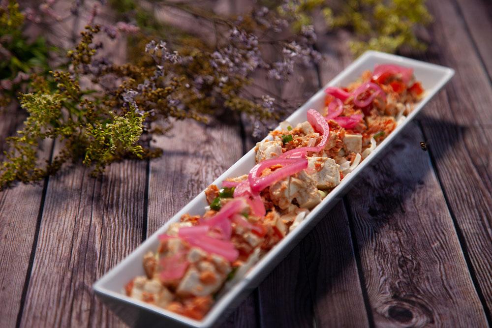 Salmon Tofu Salad