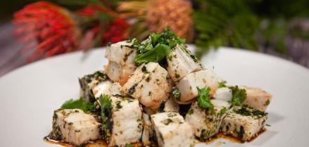 tofu watercress salad