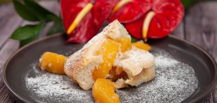 Easy Peach Cobbler Pie