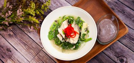 Butterfish Watercress Soup and Hanalei Poi